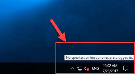 Fix: No Speakers or Headphones Are Plugged in Problem in Windows 10