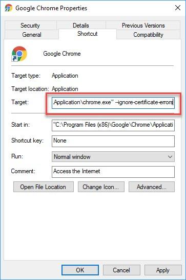 Disable SSL Error Warnings