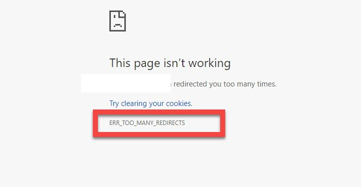 ERR_TOO_MANY_REDIRECTS Error