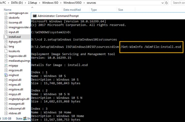 How To Convert Install.esd To Install.wim - 1
