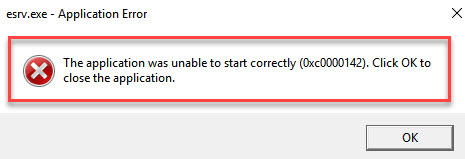 The application was unable to start correctly (0xc0000142)