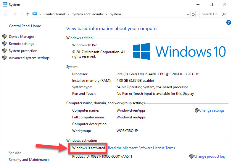 Windows 10 Product Key Free For PC