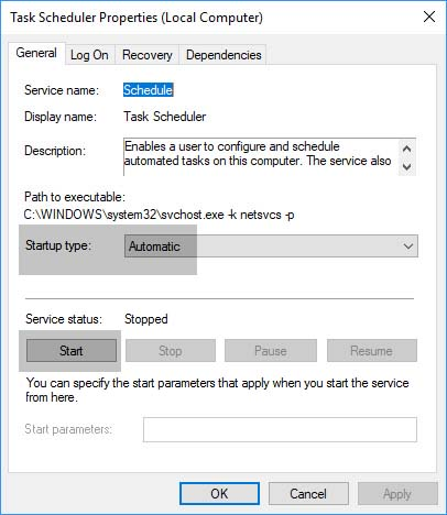 Top 3 Ways To Fix Task Scheduler Service Is Not Available In