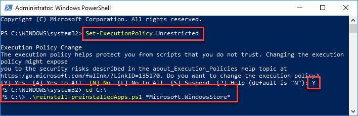 Fix Windows 10 Store Missing
