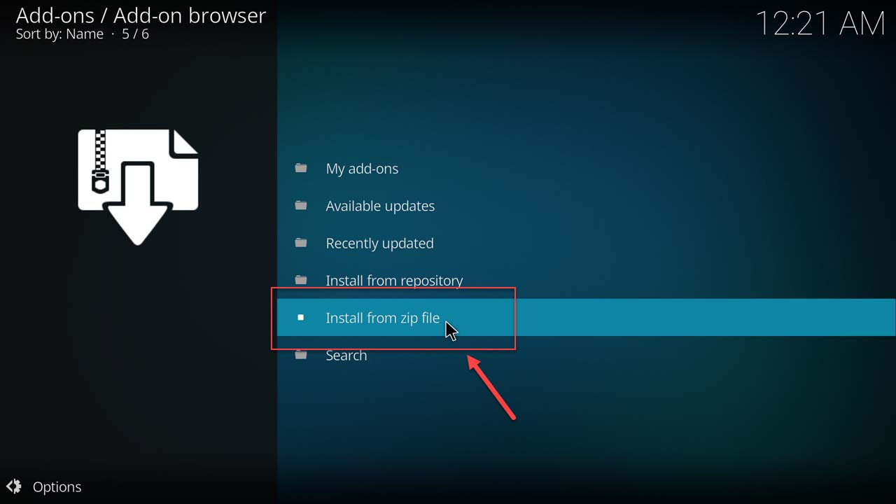 How to install an add-on in Kodi - 7