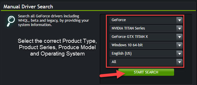 Download the latest NVIDIA display driver