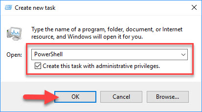 How to open an elevated PowerShell prompt in Windows 10