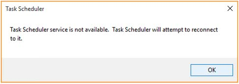 Task Scheduler Service Is Not Available In Windows 10