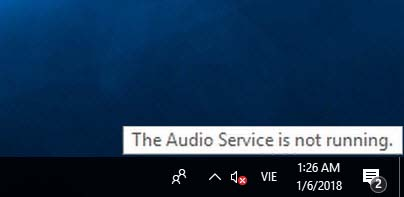 The Audio Service is not running on Windows 10
