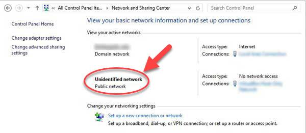 unidentified network windows 10
