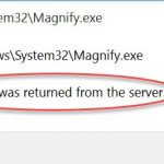 magnify a referral was returned from the server