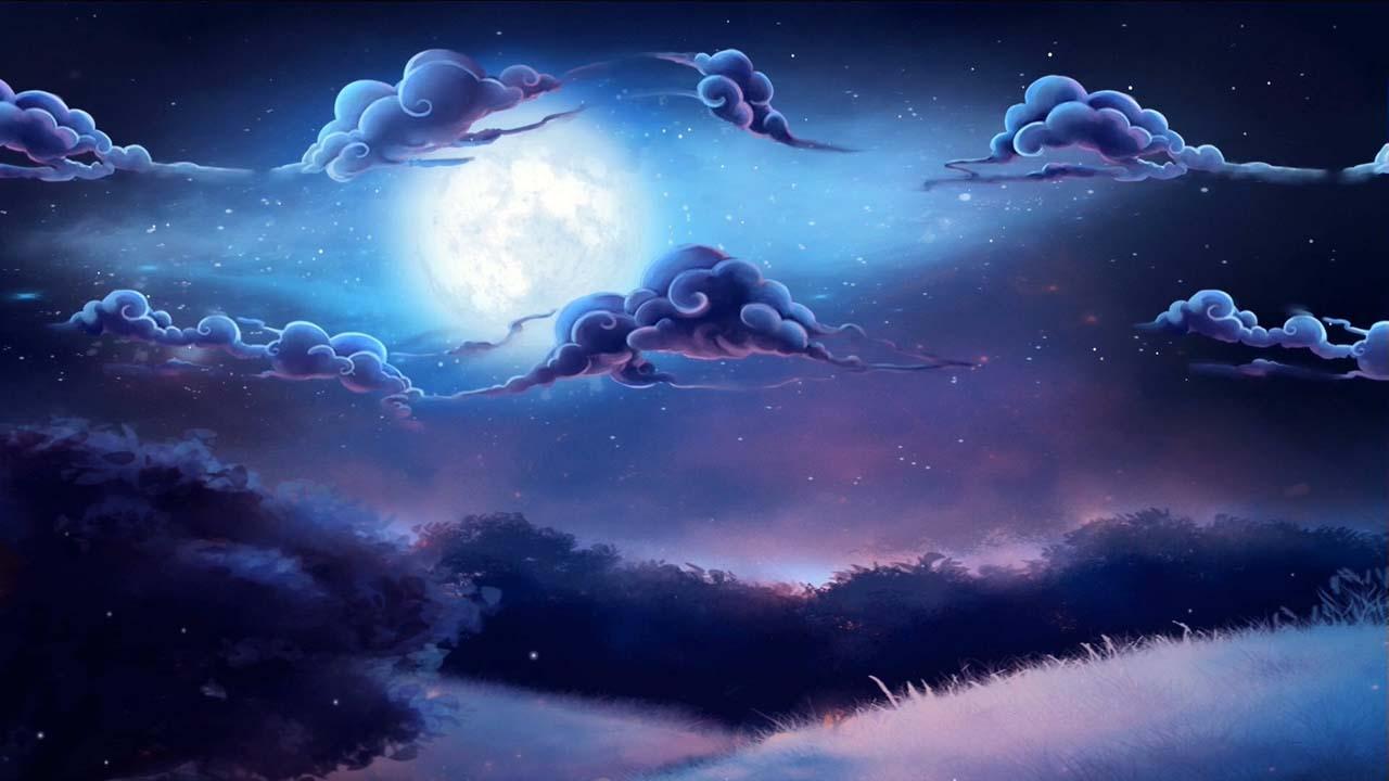 Cloudy Night Sky Live Wallpaper Windows