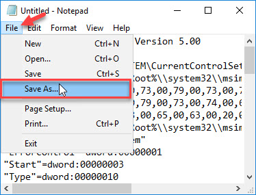 Reset Microsoft Installer Service registry