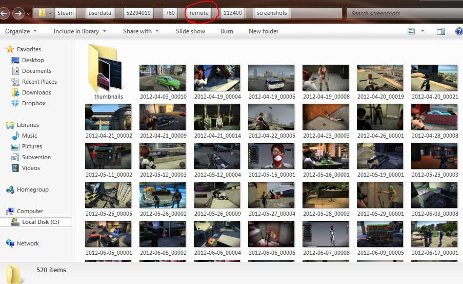 Where is The Steam Screenshot Folder in Steam