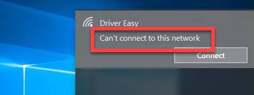 Can't Connect To This Network Windows 10
