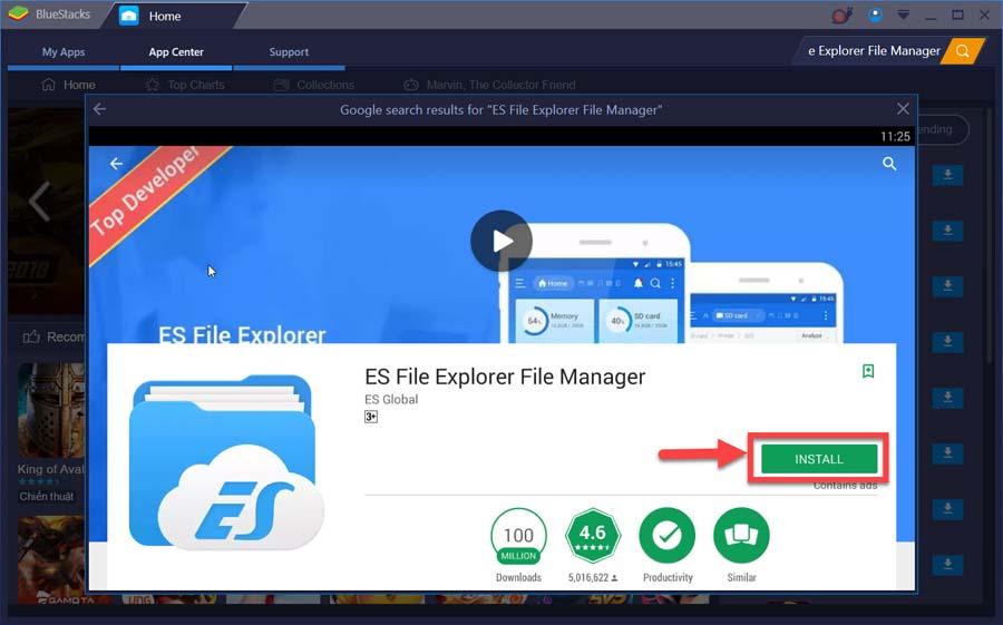Download/Install ES File Explorer on PC