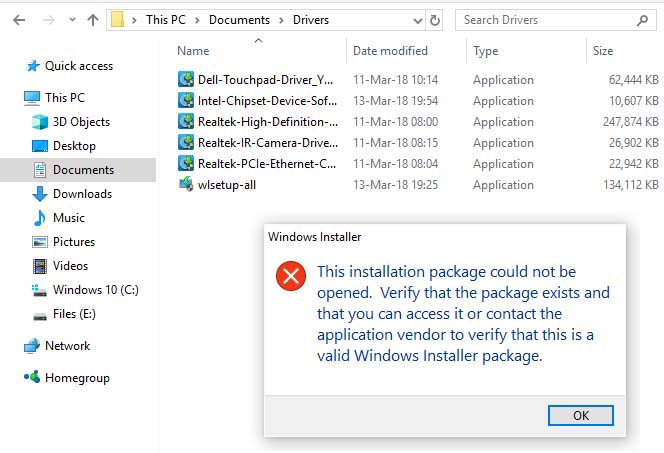 FIX: This Installation Package Could Not Be Opened in Windows 10