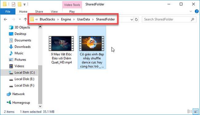 where bluestacks save files on pc
