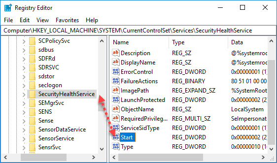SecurityHealthService