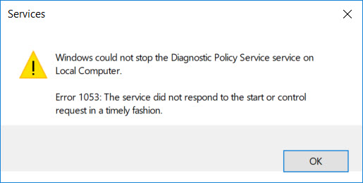 Error 1053: The service did not respond to the start or control request in a timely fashion