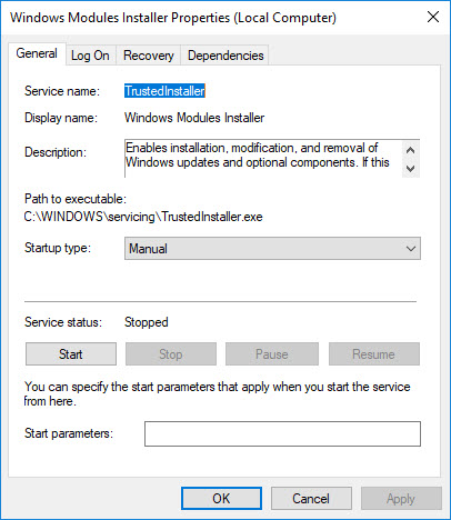 What is TrustedInstaller.exe in Windows 10/8/7