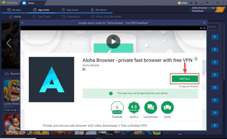 Download Aloha Browser + Free VPN for PC