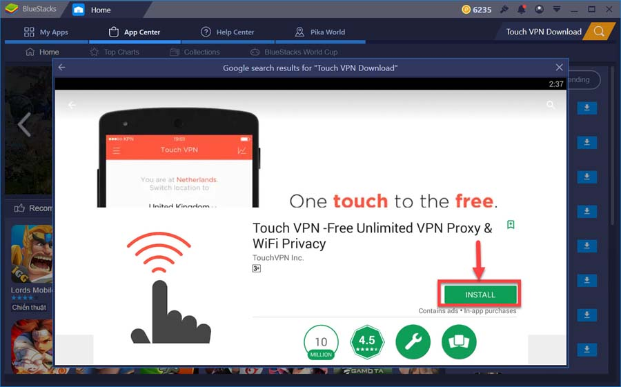 Download Touch VPN For PC (Windows 10/8/7)
