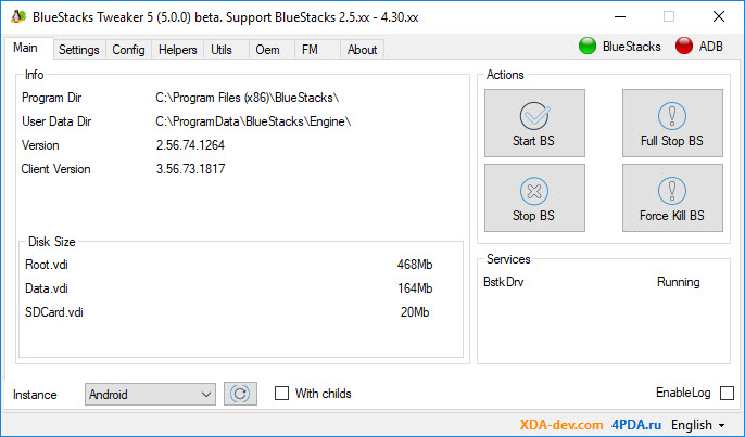 BlueStacks Tweaker Latest Version Free Download - Windows 10