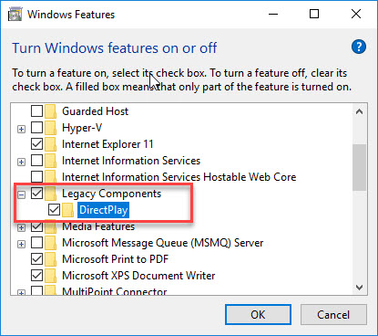 How To Install DirectPlay In Windows 10