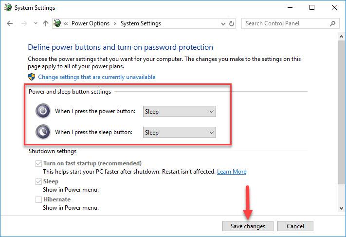Fix Windows 10 Shuts Down Instead of Sleep - 3