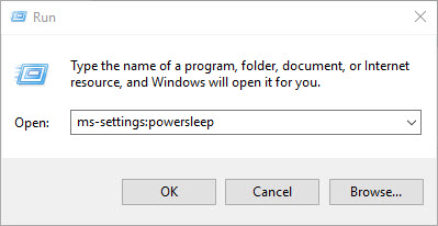 ms-settings:powersleep