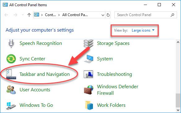 Taskbar and Navigation
