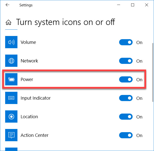 How To Fix Battery icon missing from the taskbar in Windows 10