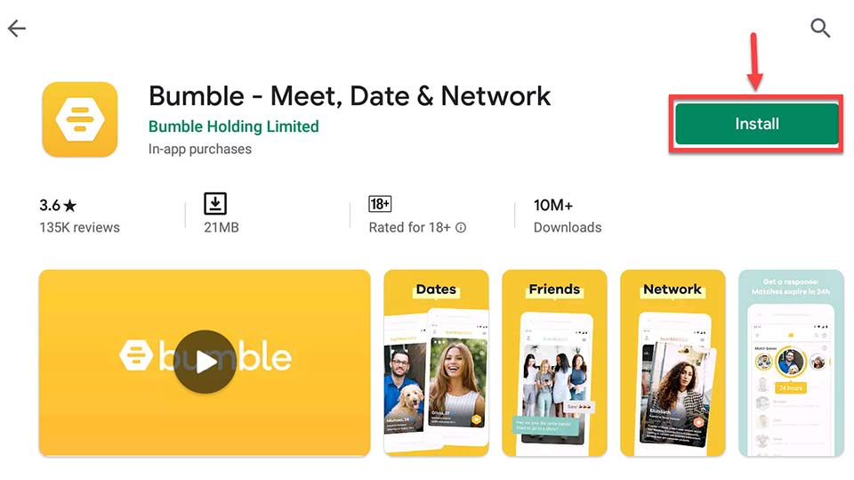 Download and Install Bumble For PC (Windows 10/8/7 and Mac)