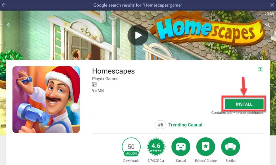 Download and Install Homescapes For PC (Windows and Mac OS)