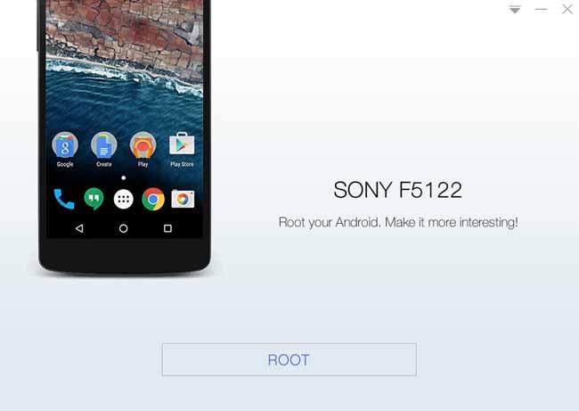 kingoroot sony f5122 root