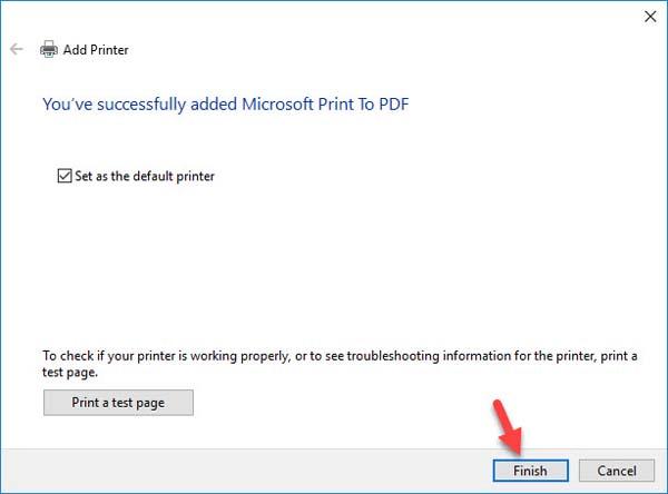 FIX: Microsoft Print to PDF not working on Windows 10 - 12