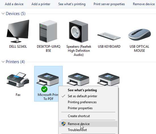 FIX: Microsoft Print to PDF not working on Windows 10 - 4