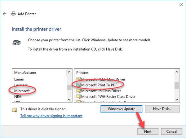 FIX: Microsoft Print to PDF not working on Windows 10 - 9