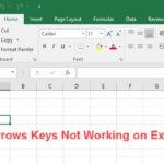 Arrows Keys Not Working In Excel