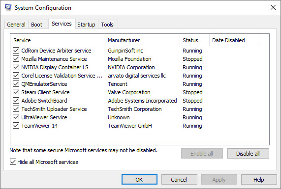 Disable Some Startup Items