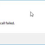Explorer.exe System call failed