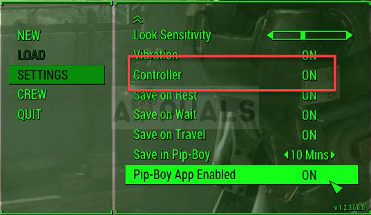 fallout4 controller off