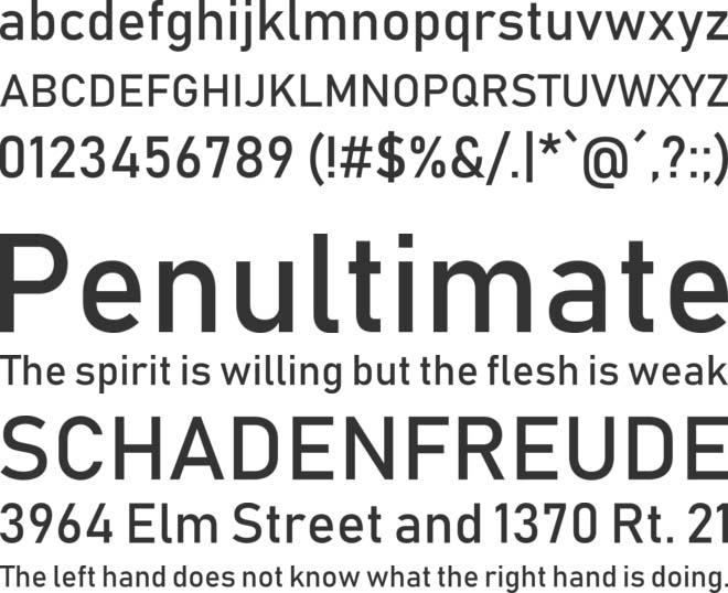Bahnschrift Font Free Download