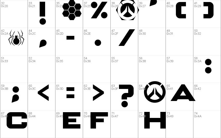 OVERWATCH Font Download - 1