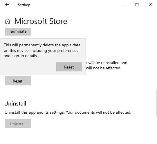 Reinstall Microsoft Store