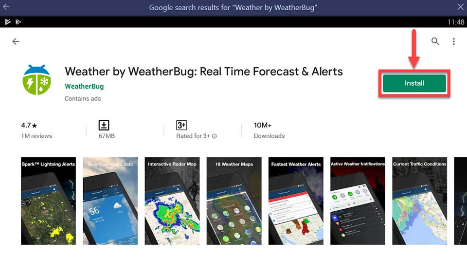 Download and Install WeatherBug For PC (Windows 10/8/7)