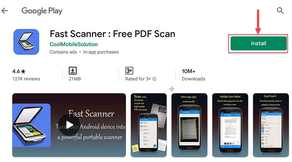 Download and Install Fast Scanner For PC (Windows 10/8/7 and Mac)