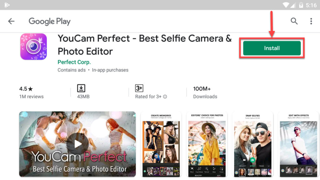 Download and Install YouCam Perfect For PC (Windows 10/8/7)