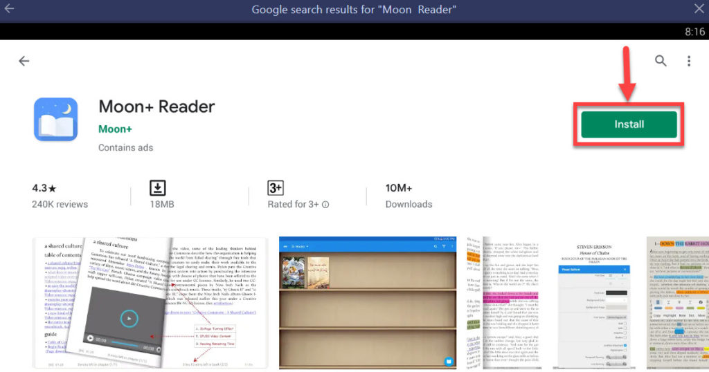 Download and Install Moon+ Reader For PC (Windows 10/8/7 and Mac)